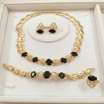 Custom wholesale <b>Jewelry</b> Sets For Women Nigerian Wedding African Beads Necklace Earring Dubai High Quality Bridal <b>Accessories</b>