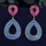 GODKI 51mm Luxury Waterdrop Trendy Multi Cubic Zirconia Naija <b>Wedding</b> Party Earring Fashion <b>Jewelry</b> for Women