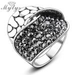 Mytys Fashion Snake Skin and Pave Setting 2 Layers Bang Rings Women Party Daily <b>Accessories</b> <b>Jewelry</b> R853