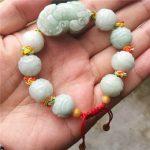 Free Shipping Natural Jadeite Stone Bracelet <b>Handmade</b> Carved Lotus PIXIU With Round Beads Women's Gift Bracelets Jades <b>Jewelry</b>