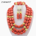 Classic Nigerian Wedding bride <b>jewelry</b> African Coral Beads <b>Jewelry</b> Set Costume <b>Jewelry</b> Sets dubai women <b>necklace</b> set L1012