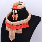 African Beads <b>Jewelry</b> Set Gold Orange Wedding <b>Jewelry</b> Set Of Beads Nigerian Set 2018 New <b>Jewelry</b> Sets For Women Free Shipping
