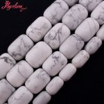 13×18,12×16,10x14mm Smooth White Column Howlite Beads Natural Stone Beads For DIY Necklace <b>Jewelry</b> <b>Making</b> 15″ Free Shipping