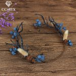 CC <b>Wedding</b> <b>Jewelry</b> Crown Garland Hairbands Forest Style Engagement Hair Accessories For Bride Seaside Flower Fruit Shape mq038