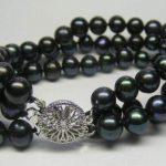 New Fashion 7-8mm Black Freshwater Pearl Multi-storey Bracelets 7.5″ <b>Jewelry</b> <b>Making</b> Wholesale and retail