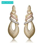 MECHOSEN Mirco Paved Zircon Silver Color Earrings Fashion Crystal Brincos Mujer Naija Women <b>Wedding</b> Decoration <b>Jewelry</b> Oorbellen