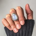 Vintage Moonstone Rings For Women Girls <b>Antique</b> Tibetan Silver Water Drop Healing Crystal Ring Boho Indian <b>Jewelry</b> Gifts R559