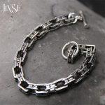 7mm 925 <b>Sterling</b> <b>Silver</b> Bracelet Men Mantra Letter 19-21CM 100% S925 Solid Thai <b>Silver</b> Link Chain Bracelets for Women <b>Jewelry</b>