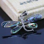 L014 Natural abalone seashells sea shells dragonfly crafts pendant,Fit fashion women <b>jewelry</b> DIY <b>making</b> wholesale