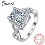 90% OFF!!! LMNZB Luxury 100% 925 <b>Sterling</b> <b>Silver</b> Rings for Women Wedding Engagement Acessories Cubic Zirconia <b>Jewelry</b> LR065