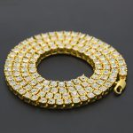 Mens Hip Hop <b>Jewelry</b> Bling Bling Single Row Of Rhinestones Chains American Style Crystal Hiphop Chain Necklaces <b>Accessories</b>