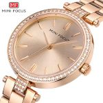 women luxury fashion wristwatches quartz stainless steel gold <b>silver</b> diamond woman watches waterproof MINI FOCUS brand clocks
