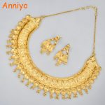 Anniyo Wedding <b>Jewelry</b> Sets For Brides Copper Gold Color Earrings & <b>Necklace</b> Set Eritrea/Sudan/Africa/Habesha Jewellery #015623