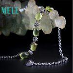 New <b>Bracelet</b> in April 2018,MELE Natural grape stone 5ct Yellowish green ,real 925 sterling <b>silver</b> <b>bracelet</b> beautiful for women