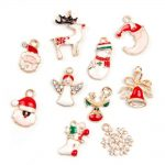 19pcs Metal Alloy Mixed Christmas Charms Set <b>Jewellery</b> Pendants Party Home <b>Decor</b>