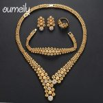 OUMEILY <b>Jewelry</b> Sets Nigerian Ethiopian African Beads <b>Jewelry</b> Set for Women Wedding Bridal <b>Jewelry</b> Sets India Costume Jewellery