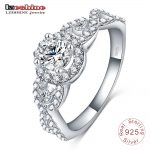 LZESHINE Engrave Name Free 2017 New Collection 925 Sterling Silver Brilliant Stackable Ring Clear CZ Ring Fine <b>Jewelry</b> Anillos