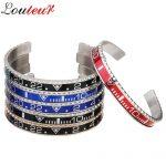 Louleur 2018 Italian Style New 316L Stainless Steel Cuff Bracelet Bangle Men Women Speedometer Bracelet Open Bangles <b>Jewelry</b>