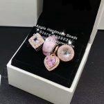 4pcs Rose Gold <b>Jewelry</b> Set Pink Heart CZ Murano Glass Dangle Charms Beads Fit DIY Bracelet Necklaces <b>Jewelry</b> <b>Making</b> Woman Gift