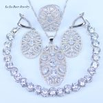 L&B 2017 New Arrival Russina Bridal Jewelry Sets For Women White Crystal 925 Stamp <b>Silver</b> Color Pretty <b>Bracelets</b> Jewelry Sets