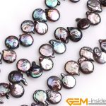Top Drilled Coin Button Natural Freshwater Cultured Pearls Beads For Necklace Bracelet <b>Jewelry</b> <b>Making</b> Strand 15 Inch Wholsesale!