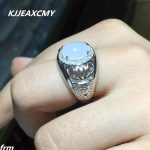KJJEAXCMY Fine <b>jewelry</b> and Tian Baiyu men's RING 925 Sterling <b>Silver</b> live hot natural color treasure wholesale