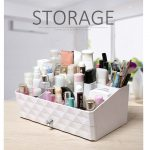 <b>fashion</b> plastic organizers with drawer desktop storage box Cosmetics holder makeup organizer Office <b>jewelry</b> case perfect gift