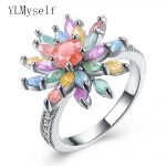 2018 new spring female <b>accessories</b> colorful crystal finger ring zirconia <b>jewelry</b> Best gift for women Luxury Fashion rings