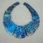 New Arrival Beautiful Trendy Blue Gifts Sea Ocean Sediment Stone Slice Beads Top Drilled Slab Shape Accessories <b>Jewelry</b> <b>Making</b>