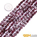 6mm Trillion Shape Natural Garnet Beads DIY Loose Beads For <b>Jewelry</b> <b>Making</b> Strand 15 Inches Wholesale !