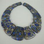 Newest Beautiful Trendy BBLU Gift Sea Ocean Sediment Stone Slice Beads Top Drilled Slab Shape Beads Accessories <b>Jewelry</b> <b>Making</b>
