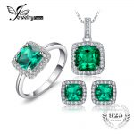 JewelryPalace Square Cut Created Emerald <b>Jewelry</b> Set Earring Ring Pendant Necklace 925 <b>Sterling</b> Sliver Fashion <b>Jewelry</b> Brand