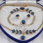 Women's Wedding Charming Zircon Necklace, Earing, Bracelet , Ring Set>AAA GP Bridal wide watch wing brinco real silver