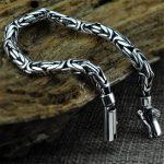 V.YA Genuine 100% Real Pure 925 Sterling <b>Silver</b> Men <b>Bracelet</b> Fashion Punk Style Thai <b>Silver</b> Bangle <b>Bracelets</b> Men Jewelry