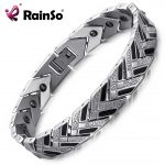 RainSo Healthy Hematite Bracelets & Bangles for Men 2018 Hot Sale Bio Energy Bracelet Black <b>Fashion</b> <b>Jewelry</b> Therapy Wristbands