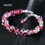 SINZRY <b>JEWELRY</b> Hot <b>Handmade</b> glass crystal Charm Bracelets Luxury imported Austria crystal DIY brilliant girl Bracelets