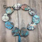 Freeform Sea Blue Ocean jaspers Slice Beads,Sediment Jaspers Slab Pendant Beads,Agates Beads For DIY <b>Jewelry</b> <b>Making</b> MY1694