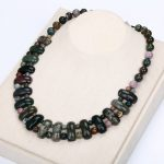 Agate Epidote Necklace Women Man Crystal Fashion Beads Beautiful <b>Handmade</b> <b>Jewelry</b> Bts Best Friend Coin Necklace For Women Gift