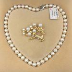 Sinya Natural freshwater round pearl beads strand necklace Chocker brooch <b>jewelry</b> set for Women Mum New years Christmas gift Hot