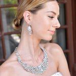 BELLA Clear <b>Silver</b> Plated Tear Drop Wedding <b>Necklace</b> Earrings Set Austrian Crystal Women Party Set Bridal Wedding Jewelry Set