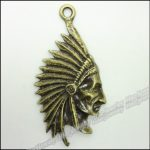 20pcs Vintage Charms <b>Native</b> <b>American</b> Indian Chief Pendant Antique bronze Zinc Alloy Fit Bracelet Necklace DIY <b>Jewelry</b> Findings