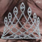 Fantastic 6″ Pageant Tiaras Diadem Clear Rhinestones Crystal Crowns Wedding Bridal Prom Party Hair <b>Jewelry</b> Accessories