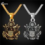 Great Seal of the United States necklace with stainless steel chain retro <b>native</b> <b>American</b> <b>jewelry</b> P2493G