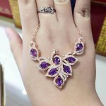 Natural amethyst Necklace natural crystal Pendant Necklace S925 <b>silver</b> trendy Elegant Phoenix women party fine <b>Jewelry</b>