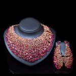 LAN PALACE austrian crystal africa <b>jewelry</b> set <b>necklace</b> and earrings for party gold set india <b>jewelry</b> free shipping