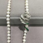 925 <b>sterling</b> <b>silver</b> with cubic zircon rose <b>jewelry</b> lock it's used for keeping long necklace slip and decortaion magnet women