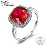 JewelryPalace Christmas Gift 6ct Pigeon Blood Red Created Ruby Engagement Wedding Ring For Women S925 <b>Sterling</b> <b>Silver</b> <b>Jewelry</b>