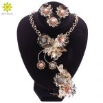 Nigerian Bead <b>Jewelry</b> Sets For Women Wedding Flower African Beads <b>Jewelry</b> Set <b>Necklace</b> Earrings Bracelet Ring Jewellery