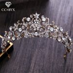 CC Tiaras And Crowns Baroque Style Vintage Crystal Shine Beads <b>Wedding</b> Hair Accessories For Bridal Engagement Fine <b>Jewelry</b> XY028