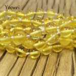 Yoowei Wholesale 55cm 11.8g Natural Amber Necklace for Women Original Genuine Round Beads Baltic Amber <b>Jewelry</b> Necklace <b>Supplies</b>